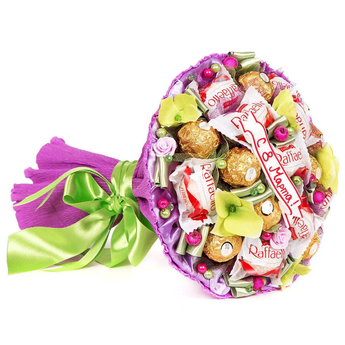 Букеты с конфетами открытки