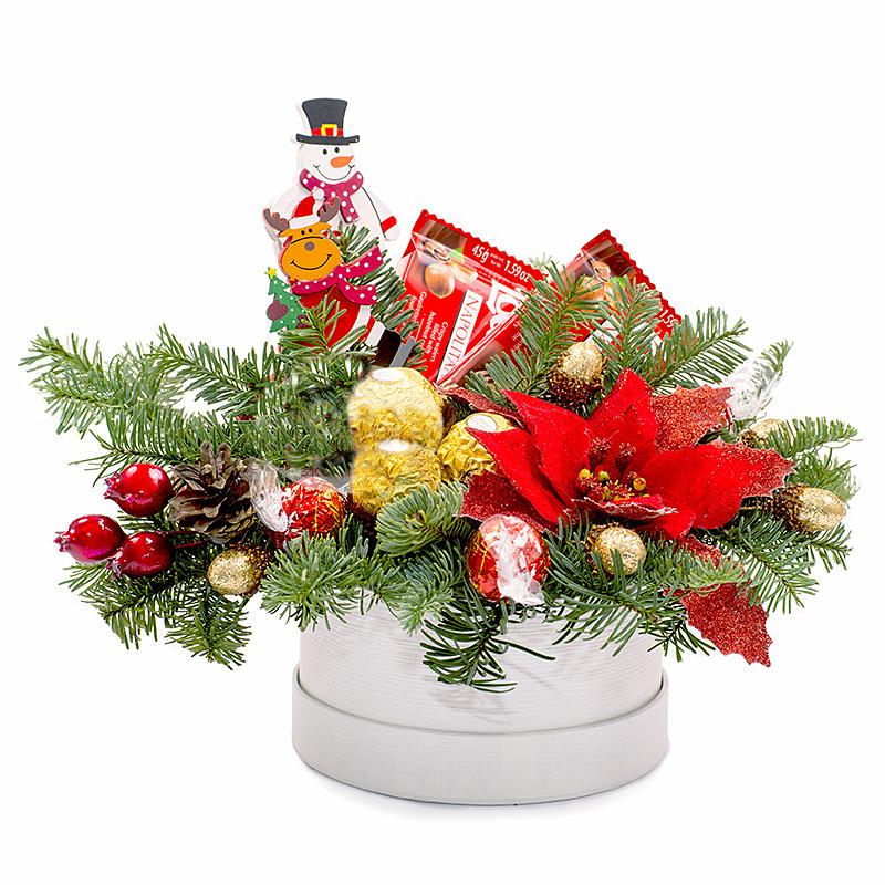 новогодняя композиция в подарок фото шампунь кетоконазолом