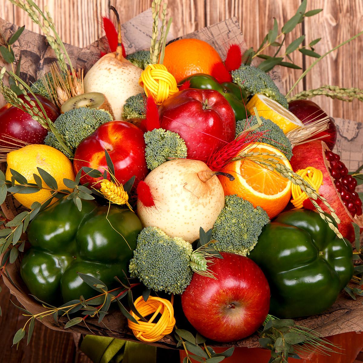 Картинка композиция из овощей
